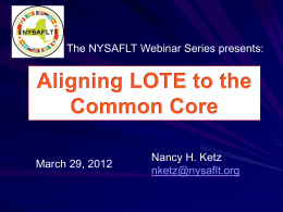 Common Core Webinar
