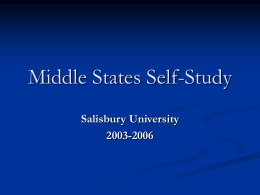 Middle States Self Study