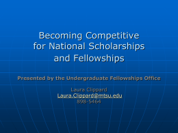 Becoming Competitive for National Scholarships and …