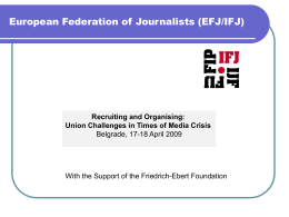 European Federation of Journalists (EFJ/IFJ)