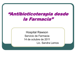 Antibioticoterapia desde farmacia