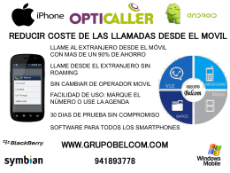 OPTICALLER REDUCIR COSTE DE LAS LAMADAS