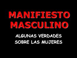 MANIFESTO MASCULINO