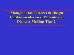 Manejo de los factores de riesgo cardiovascular en el