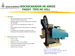 Descascarador de arroz paddy Tipo Mc Gill