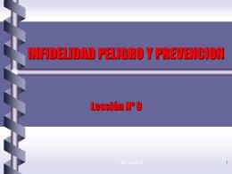 INFIDELIDAD PELIGRO Y PREVENCION