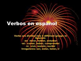 Verbos en espanol