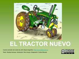 El tractor nuevo