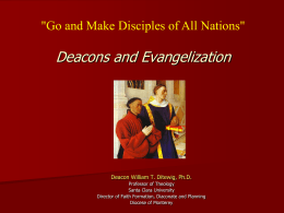 Theology of the Diaconate