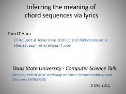 Inferring the meaning of chord sequences via lyrics