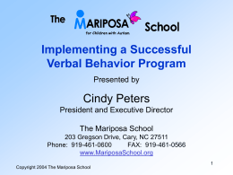 Overview of Verbal Behavior