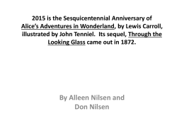 Alice's Adventures in Wonderland by Lewis Carroll …