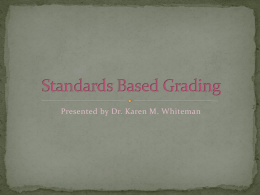 Standards Based Grading - Roman Catholic Diocese of …