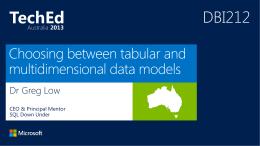 DBI-202 TechEd Australia 2013