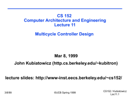 CS 152 Computer Architecture and Engineering Spring …