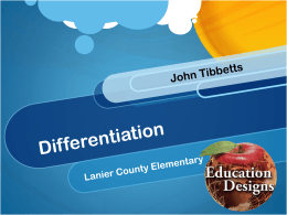 Differentiation - Education Designs