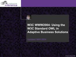 W3C WWW2004 - World Wide Web Consortium