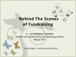 Behind The Scenes of Fundraising