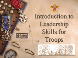 Troop 69 Leadership Training