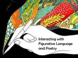 Interacting with Figurative Language and Poetry