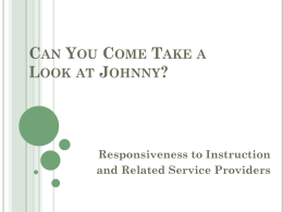 Can You Come Take a Look at Johnny: