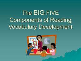 The Big 5 Components of Reading