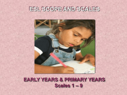 ESL Scope and Scales 1-9