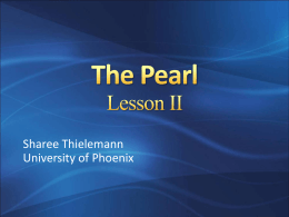 The Pearl Lesson I