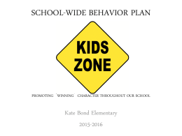 SCHOOL-WIDE BEHAVIOR PLAN
