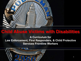 PowerPoint Presentation - Child Abuse Victims with