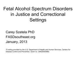Identifying and Caring for Inmates with Fetal Alcohol