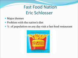 Fast Food Nation - LaGuardia Community College