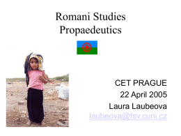 Introduction to Romani Studies