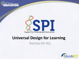 Universal Design Language Overview Presentation