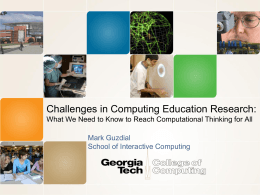Contexts in Computer Science Education