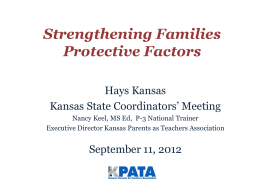 Strengthening Families and the Protective Factors