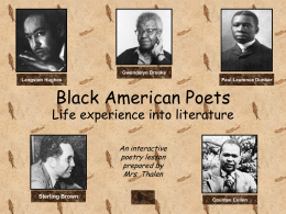 Black American Poets - Mount Sinai School District