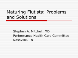 Maturing Flutists: Problems and Solutions