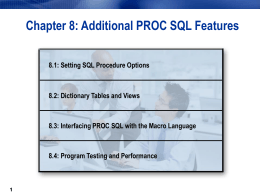 Module 9: Additional SQL Features