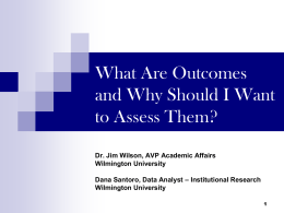 What Are Outcomes and Why Should I Want to Assess …