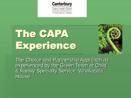 The CAPA Experience