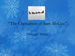 The Cremation of Sam McGee""
