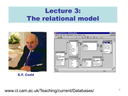 Lecture 03 of IB Databases course