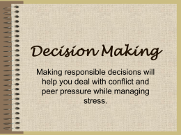 Decision Making - Nova Scotia Department of Education