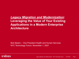 Leveraging the value of your existing applications