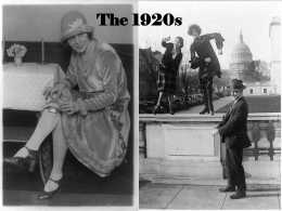The 1920s Power Point - Nampa School District #131