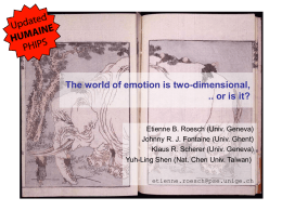 The world of emotion is two