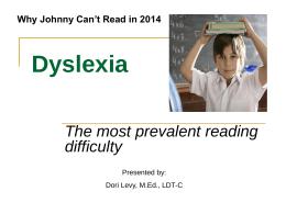Dyslexia - Mansfield Public Schools