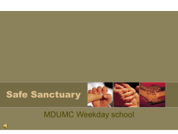 Safe Sanctuary - MDUMC Children's Weekday School