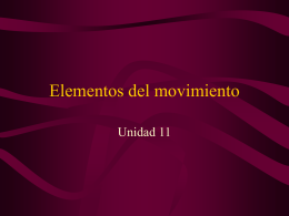 Elementos del movimiento - INTEF
